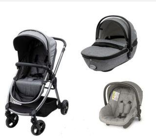 Cochecito bebé 3 piezas