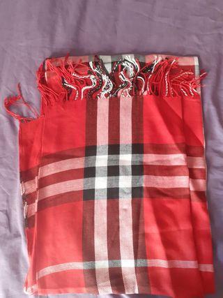pasmina bufanda pañuelo unisex estilo Burberry