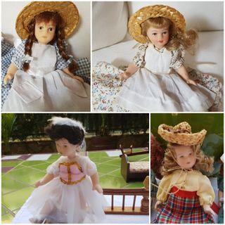 Muñecas miniatura porcelana