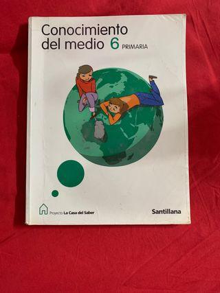 Libro conocimiento del medio 6ºprimaria SANTILLANA