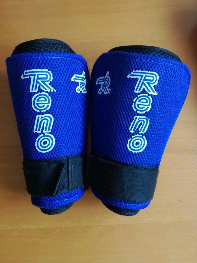 espinilleras hockey marca Reno talla prebe-iniciac