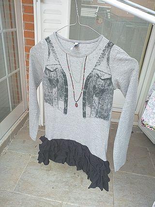 Vestido gris niña