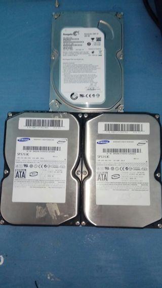 discos duros marca seagate y Samsung