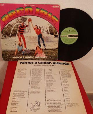 ANTIGUO DISCO DE VINILO ALBUM LP ARCOIRIS GRUPO IN