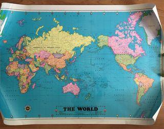 Poster Mapa mundi.