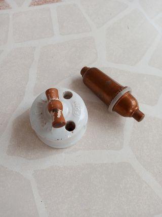 Interruptor porcelana antiguo