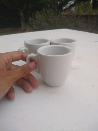 Tazas + platos de café solo o cortado porcelana