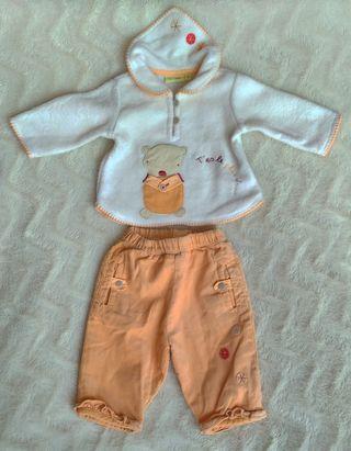 Conjunto de pantalón y forrito polar