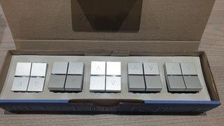 Interruptores de persiana Niessen Zenit.