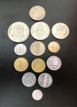 Lote 13 monedas pesetas