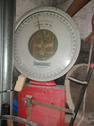 Báscula industrial vintage