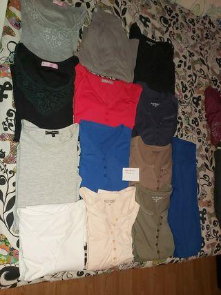 lote camisetas básicas talla m manga larga