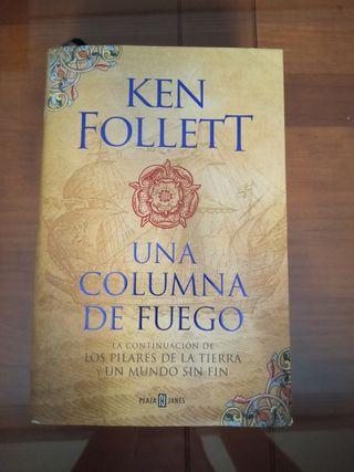 """Vendo libro """"Una columna de fuego"""" de Ken Follett"""