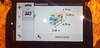 Navegador GPS Garmin Camper 770 para Autocaravanas