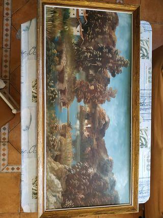 cuadro antiguo grande al óleo