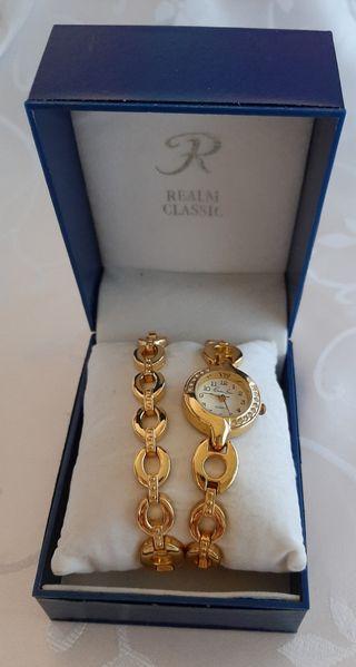 Reloj y pulsera mujer ,Charles Leman de quartz.