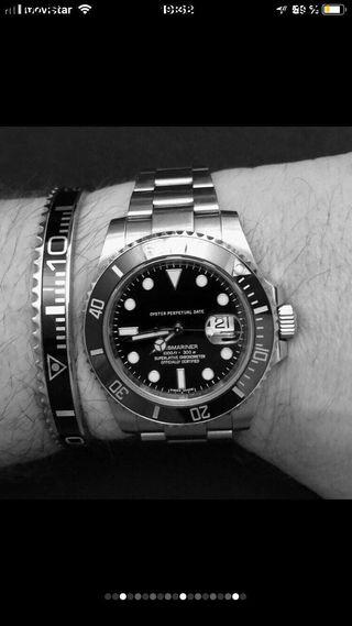 Pulsera Corona de reloj tipo Rolex Omega etc