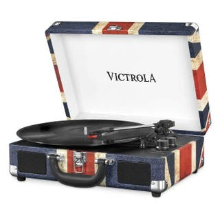 VICTROLA Tocadiscos Vintage Maleta portátil Blueto