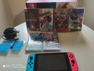 Nintendo Switch + 7 Juegos fisicos