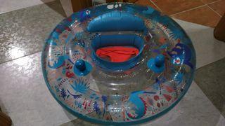 Flotador con braguero para bebés de Decathlon.