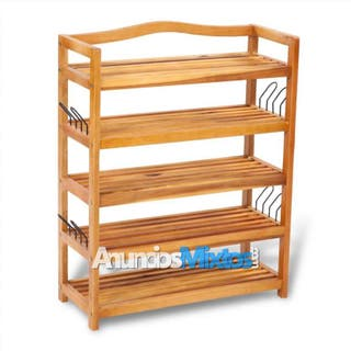 Zapatero de madera con 5 estantes