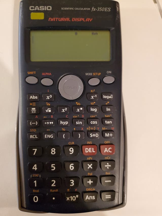 Casio calculator fx350es
