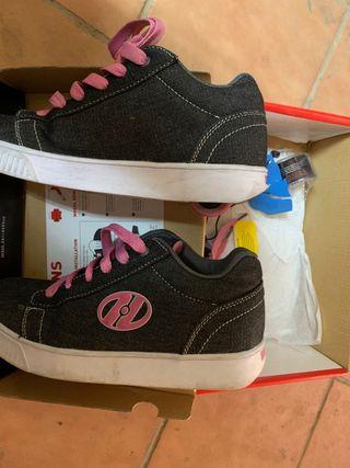 Zapatillas Heelys niña con ruedas, talla 38,5