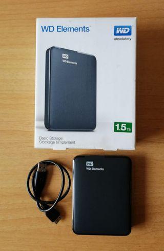"Disco duro WD 1.5TB 2.5"" USB 3.0"