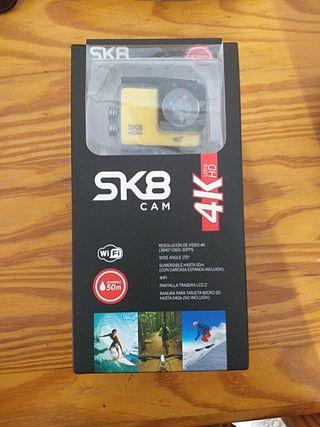 Cámara deportiva SK8 CAM 4K. Nueva, nunca abierta.