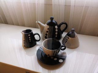 Juego de te o café con 6 tazas