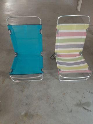 tumbonas sillas playa