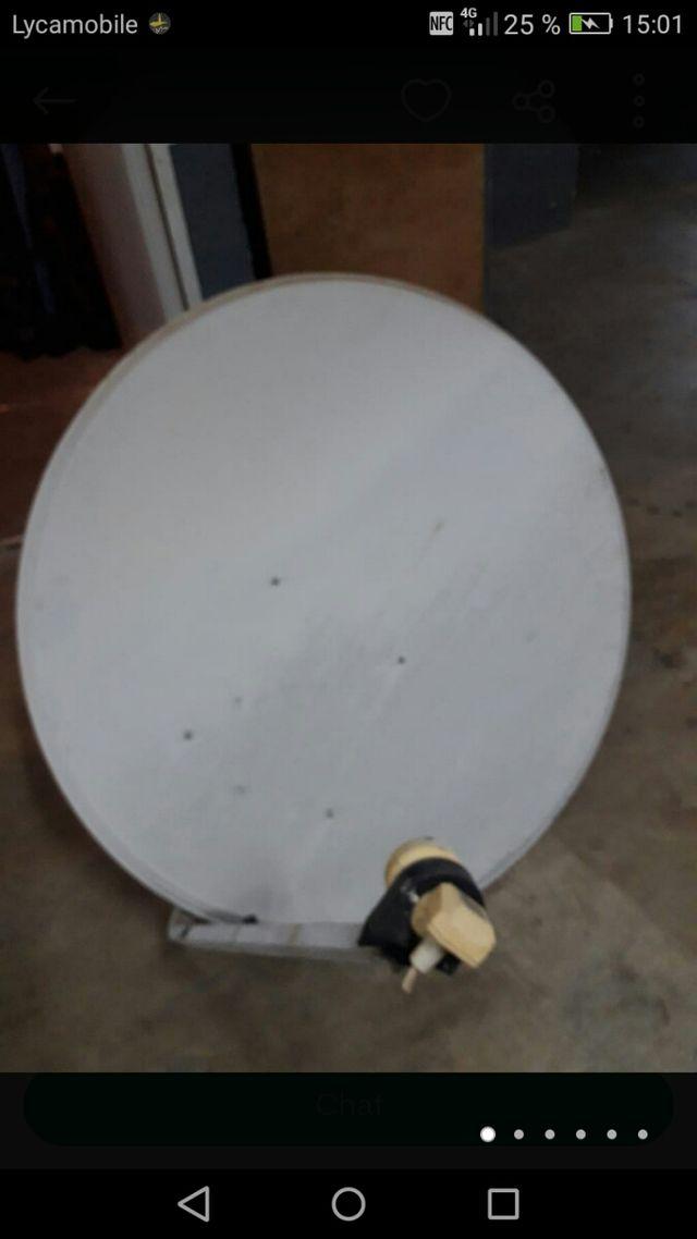 Instalación de Parabol descarga de canales y tod