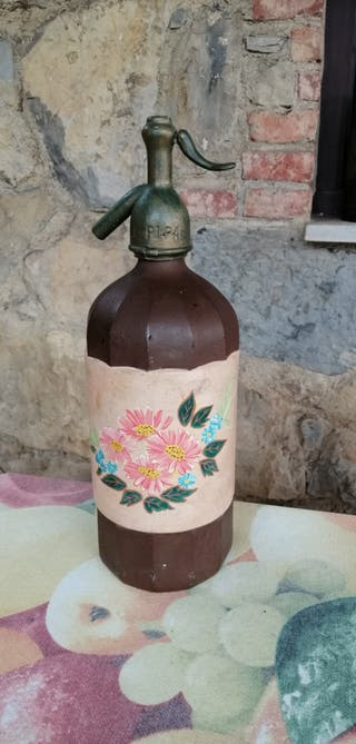 Sifón pintado a mano La Pipa