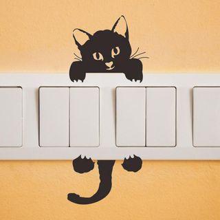 "Pegatina para interruptor ""gatito"" o ""perrito"""