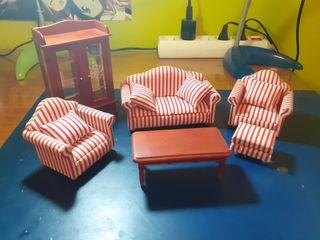 Set muebles casa de muñecas
