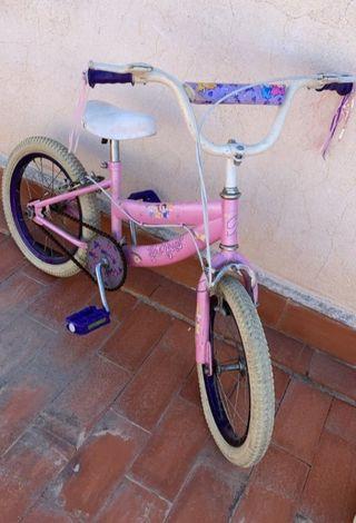 Bicicleta princesas Disney color rosa