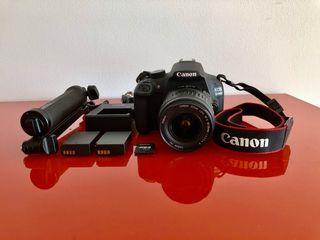 Canon 1200D + trípode GoPro + accesorios y extras