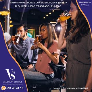 Traspasamos Lounge en el centro de Valencia.