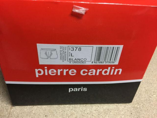 6 Calzoncillos Pierre Cardin blancos