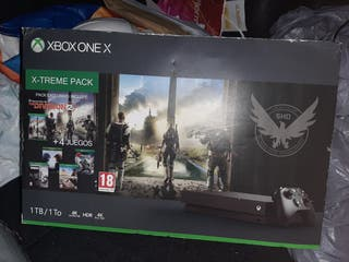 consola xbox one X con 5 juegos NUEVA
