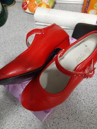 tacones niña rojos zapatos