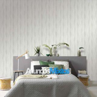 Rollos de papel pintado 2 unidades ondas color bla