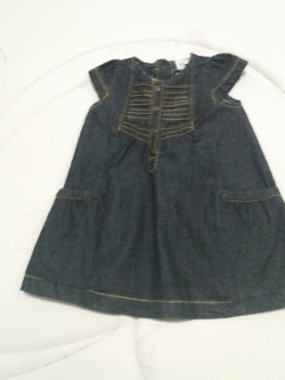 vestido tejano niña marca CANADÁ de 6 a 12 meses