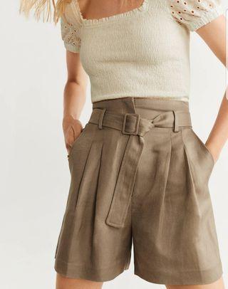 pantalón corto mango nuevo