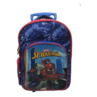 Mochila escolar con carro Spiderman (A ESTRENAR)