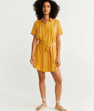 vestido mostaza mango nuevo