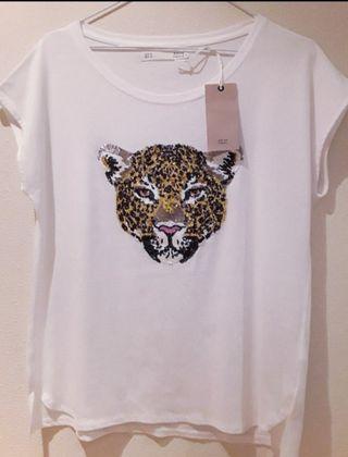 Camiseta leopardo t-M Sfera