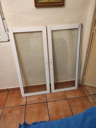 Vendo 4 ventanas dobles con marcos de aluminio Cli