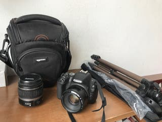 Canon EOS 200D + maleta + trípode + obj. 50mm