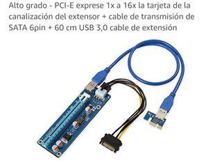 TISHRIC 60 cm PCIE PCI-E tarjeta vertical extensor